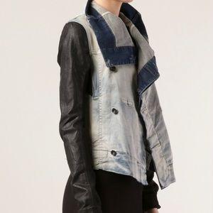 Rick Owens DRKSHDW Leather Denim Jacket